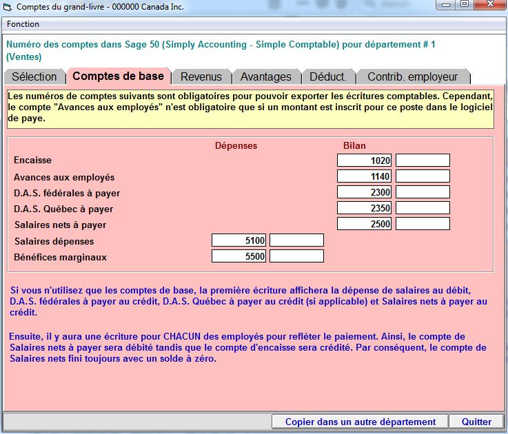Caract ristiques de vsps logiciel de paye canada - Le grand livre comptable ...